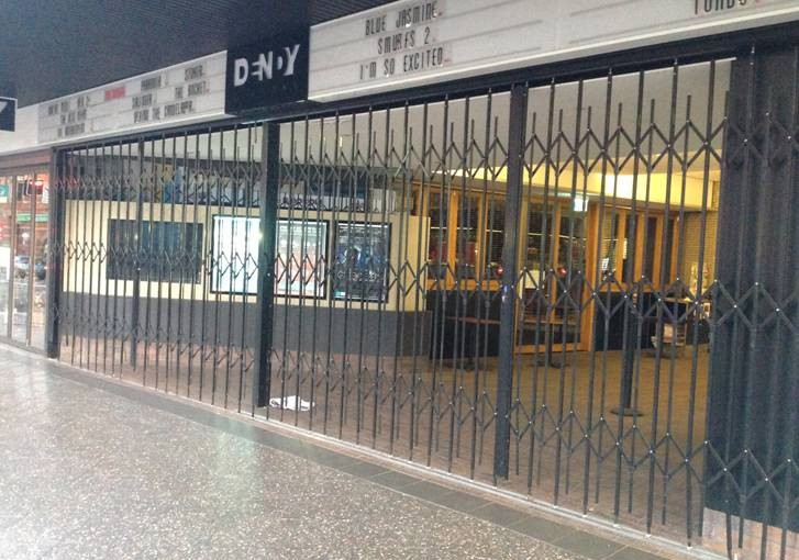 Shopfront Security Doors for Movie Theatres and Entertainment Venues