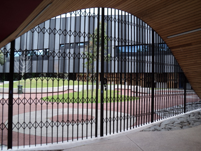 Retractable Steel Security Doors for Educational Institutions