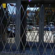Aluminium Barrier Landsdown Hotel Locked