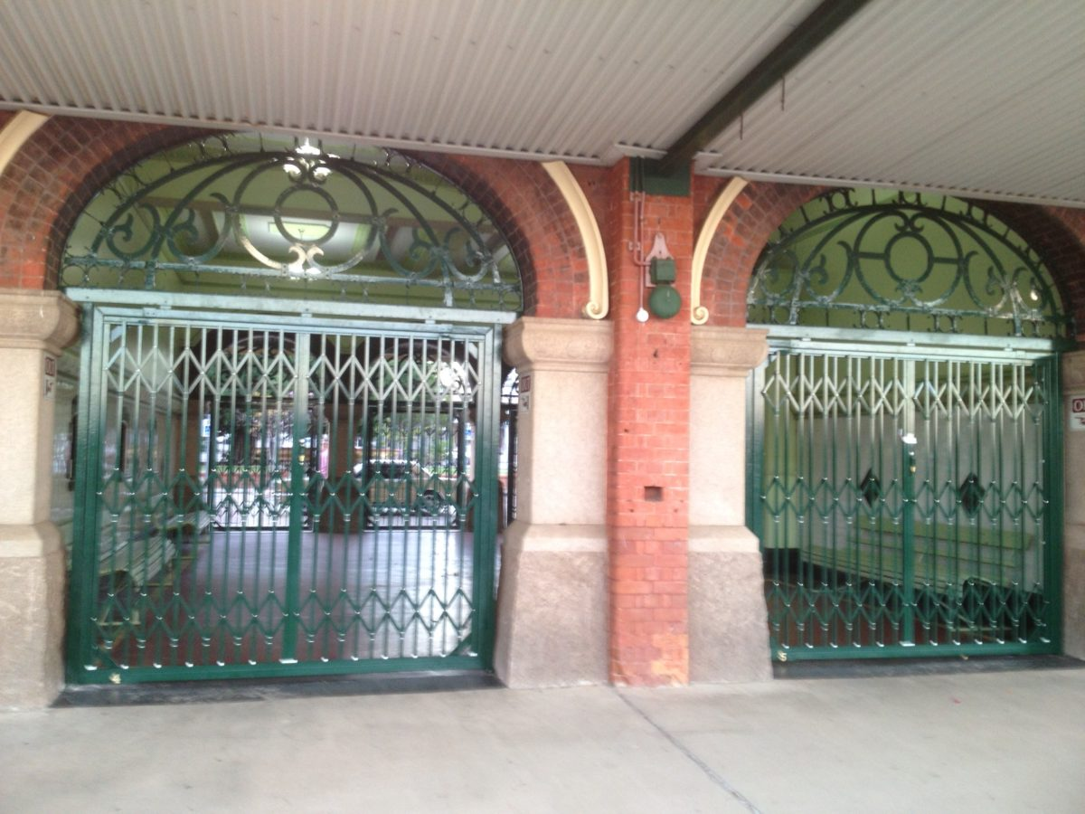 Folding Secuity Gates - Townsville Rail Station