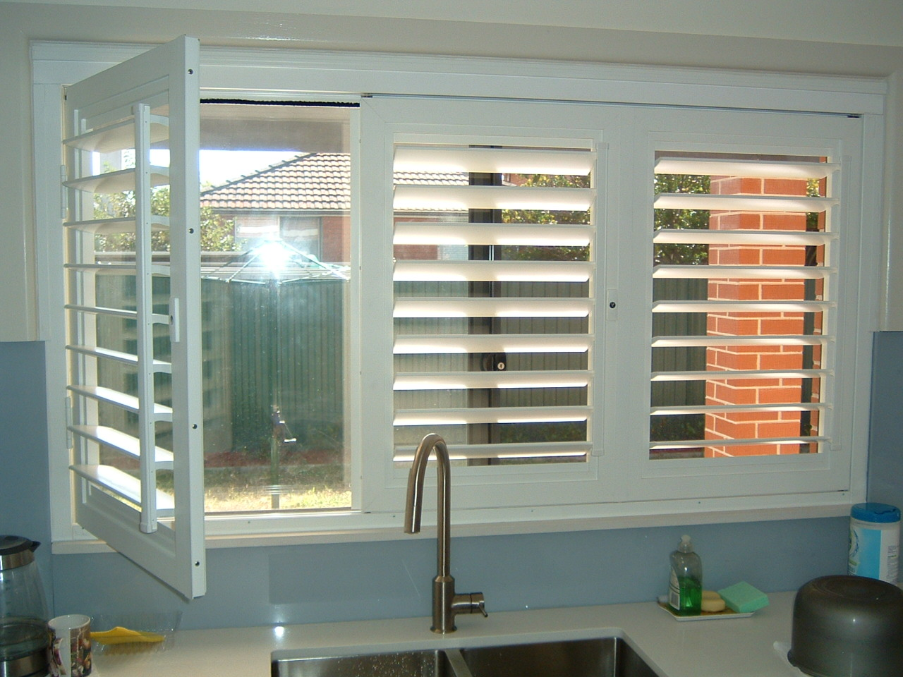 Exterior: ATDC Lockable Plantation Shutters Are Built For Durability