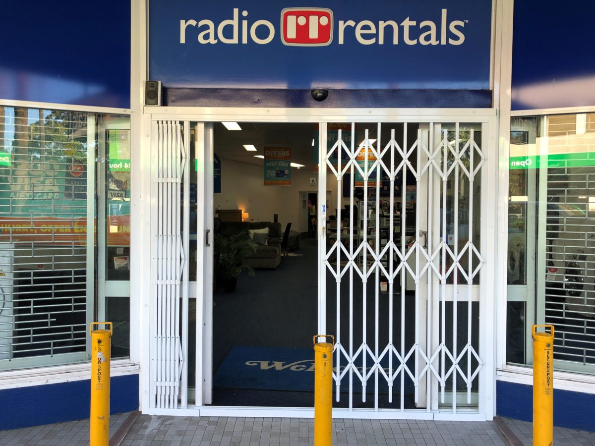 Storefront Windows And Doors radio rentals prefer secure shopfront security doors   the