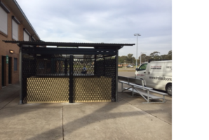 Security shutter for club amenities
