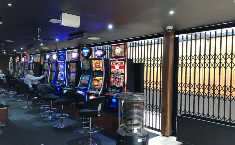 Security Shutters for Poker Machines in Bowling Club Gaming Rooms