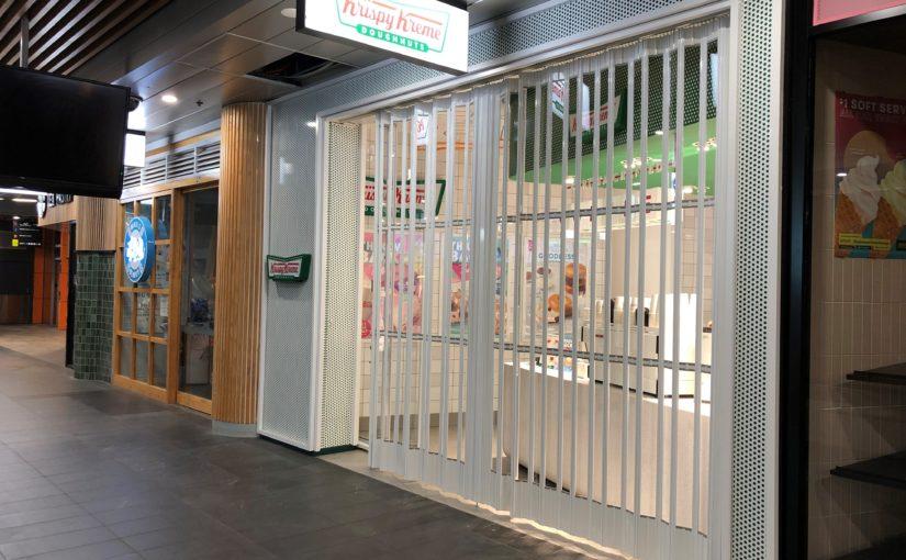 Precision Engineered Folding Security Shutters for Krispy Kreme
