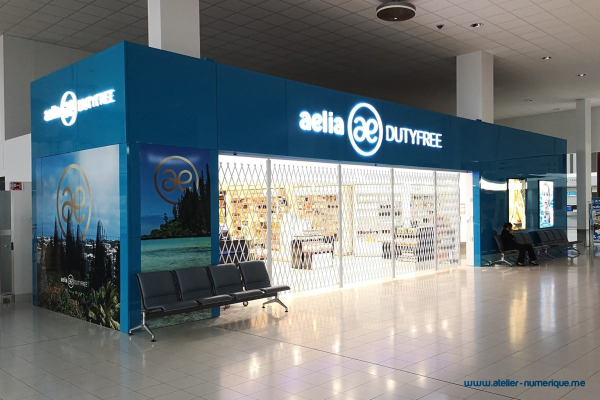 Folding Security Shutters Airport Duty Free