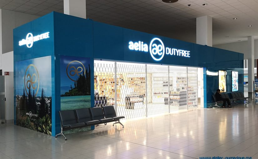 Folding Security Shutters for International Airport Duty Free