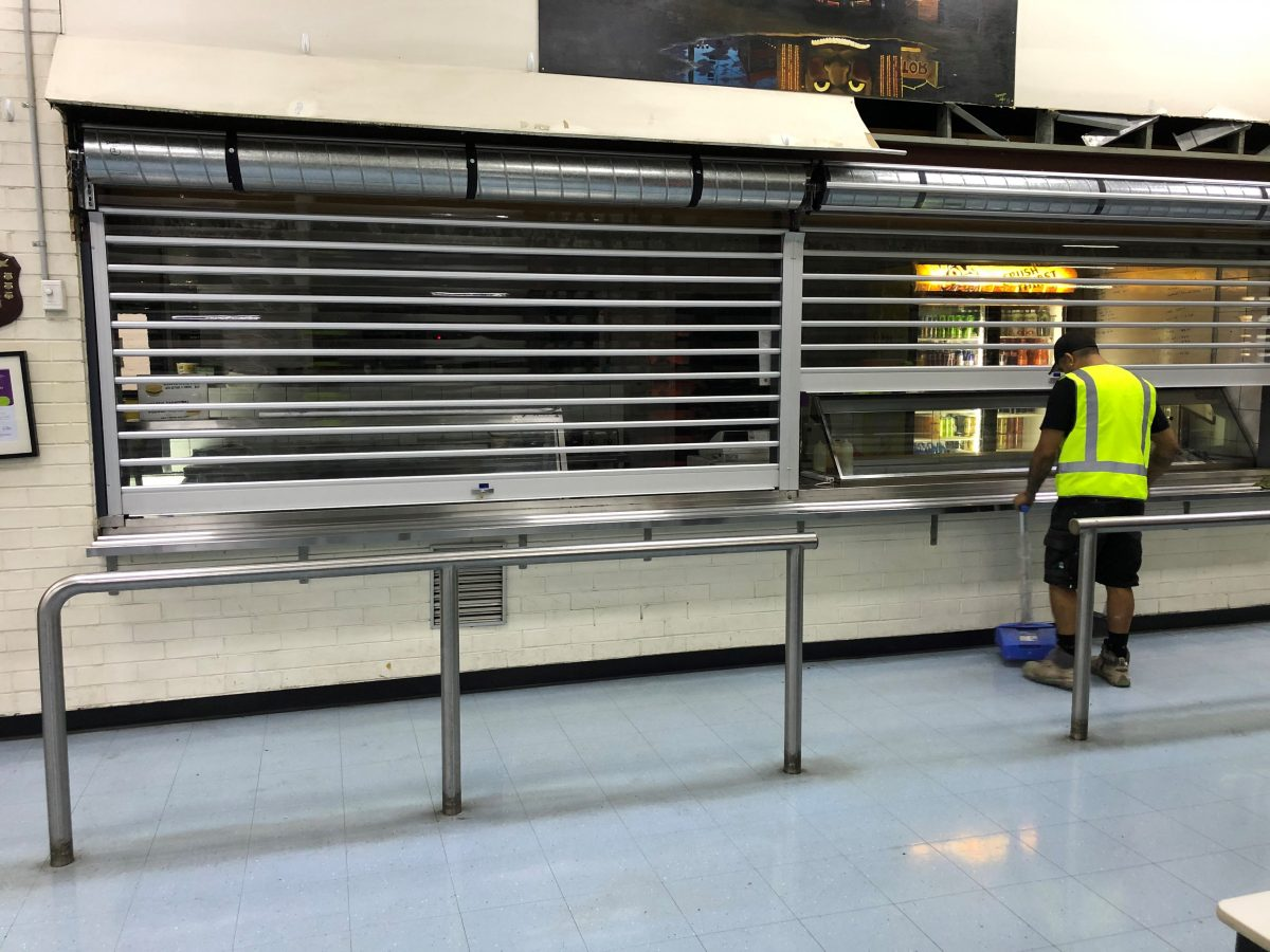 clear security roller shutters