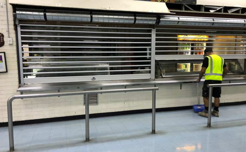 Clear Security Roller Shutters for Woolworths Depot Yennora