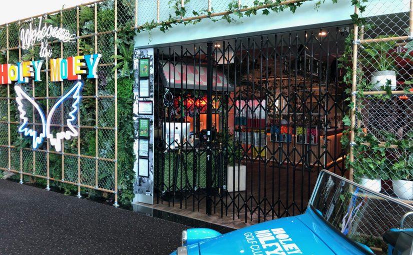 Holey Moley Funky Retractable Security Doors