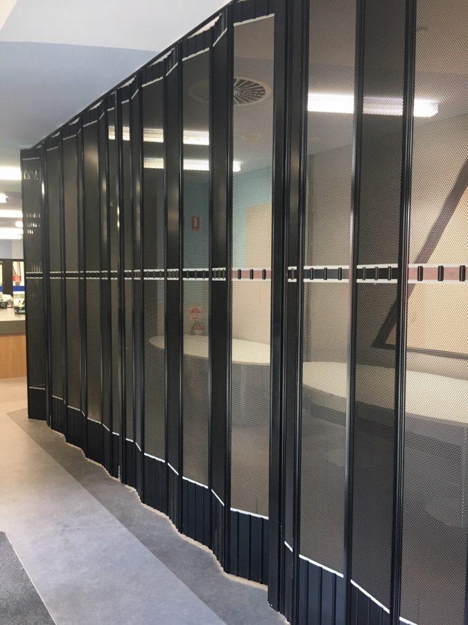 Perforated Metal Infill Door