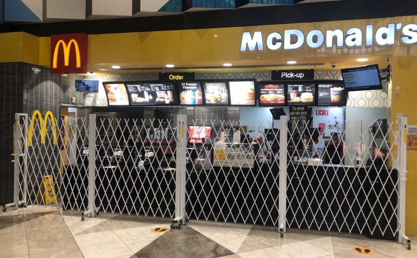 AUSSIE MADE ACCESS CONTROL BARRIER FOR MCDONALD'S RESTAURANTS