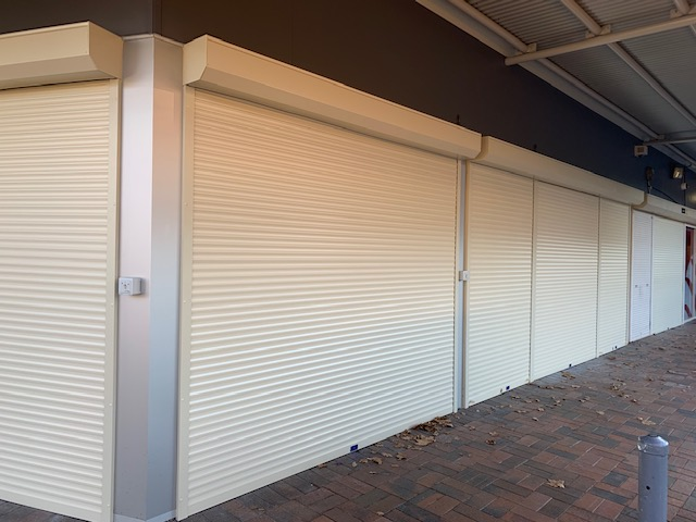 Remote Operated Commercial Roller Shutters with Sequential Relay Option