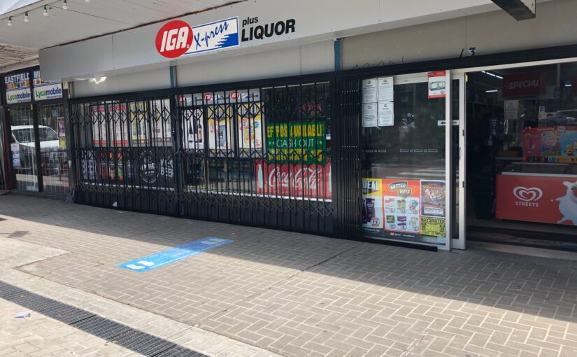 ATDC BRANDED EXPANDABLE SECURITY SHUTTERS FOR IGA STORES
